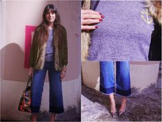 Anchoring my Cropped Flared Jeans