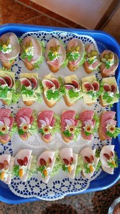Party Finger Foods, Finger Food Appetizers, Snacks Für Party, Appetizers For Party, Appetizer Recipes, Fingerfood Party, Gourmet Recipes, Cooking Recipes, Cooking Tips