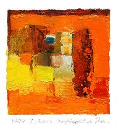 Abstract Oil Painting by Hiroshi Matsumoto
