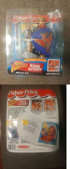 Other Fisher-Price 1963-Now 374: Vintage Great Adventures King Arthur Figure 1999