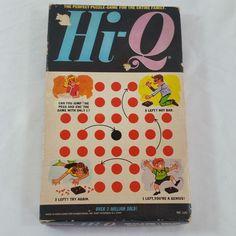 Hi-Q Puzzle Brain Teaser Board Game from 1970 No. 120 #Kohner