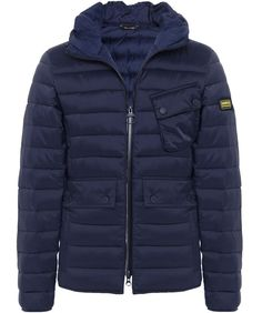 Barbour Navy Ouston Hooded Quilted Jacket available at Jules B 4a70b0a5f