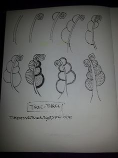 Timeless Rituals: My 9th Tangle Pattern: TREE-THREE & New Doodle Pages