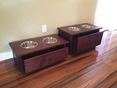 Elegant Dog Bowl Stand With Built In Food Storage This Is Handmade Out Of Locally  Harvested Oak