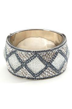 Saachi Cleo Bangle In Diamond & Gray