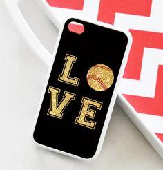 iPhone 4 Case - Love Softball iPhone Case - iPhone 5 Case - iPhone 5c Softball Case - iPhone 4s Softball Case - iPhone 5s - iPhone5 Case