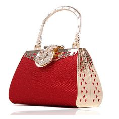 Wonderful Red Carpetbag - free shipping worldwide