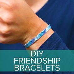 DIY Friendship Bracelets #childhood #crafts #DIY