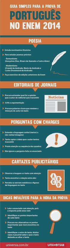 Infográfico: Guia simples para a prova de português do Enem 2014