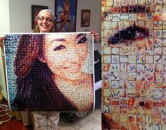 Turn your Instagram and/or Flickr photo collections into a photomosaic, composed of tiny photos.