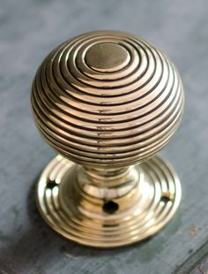 vintage rose brass door knobs made by gibbons of wolverhampton made