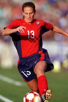 Kristine Lilly vs. Nigeria, Sept. 20, 2000. (Darrin Braybrook/Getty Images)