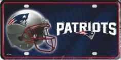 New England Patriots NFL Tag Sign License Plate  #NewEnglandPatriots