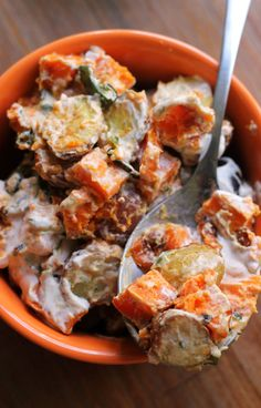 This roasted jalapeno ranch potato salad has a spicy kick that's cooled down by a Greek yogurt ranch dressing.