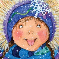 Invierno, nieve - Ilustración Liza Woodruff