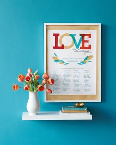 Love lives on and on in this poster, which you can print out using our PDF and display at your wedding for attendees to sign. After the wedding, frame it and hang it on your wall for a sweet memento.