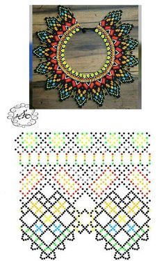 Beaded beads tutorials and patterns, beaded jewelry patterns, wzory bizuterii koralikowej, bizuteria z koralikow - wzory i tutoriale Diy Necklace Patterns, Bead Loom Patterns, Beaded Jewelry Patterns, Peyote Patterns, Beading Patterns, Native Beadwork, Bead Loom Bracelets, Beaded Crafts, Seed Bead Jewelry