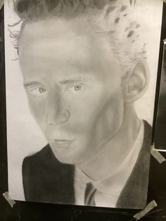 Currently working on Tom Hiddleston and I'm having a break because his hair…