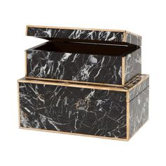 Perfect for storing winter trinkets: Marble Boxes