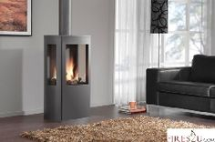 The DRU Trio freestanding gas fire combines the nostalgia of a rustic gas stove … – Freestanding fireplace wood burning