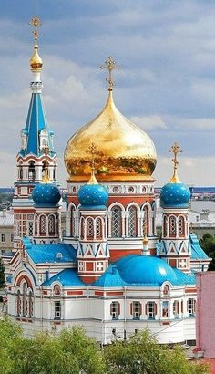 Russian Orthodox Church in Omsk.