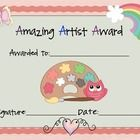 This is a set of cute artist awards....