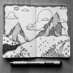 lol art sketchbook ideas & creative j Best Sketchbook, Sketchbook Drawings, Zentangle Drawings, Doodle Drawings, Doodle Art, Art Sketches, Sketchbook Ideas, Ink Illustrations, Art Journal Inspiration