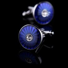 Blue Enamel Base Cufflinks