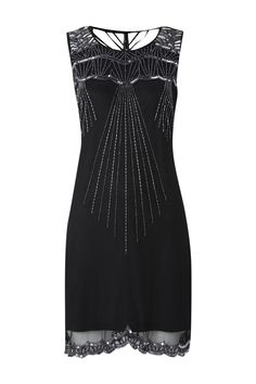 Large image of Art Deco Beaded Dress - opens in a new window
