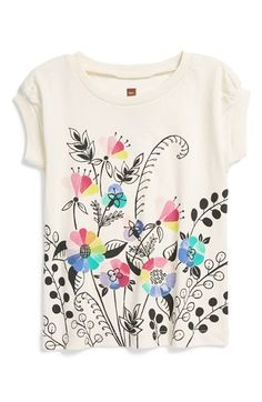 Tea Collection 'Kaleidoscope Garden' Graphic T-Shirt (Toddler Girls, Little Girls & Big Girls) Graphic Shirts, Printed Shirts, Kids Nightwear, Polo Outfit, Shirt Shop, T Shirt, Painted Clothes, Girls Tees, Kids Wear