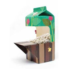 Milk Carton to Bird Feeder