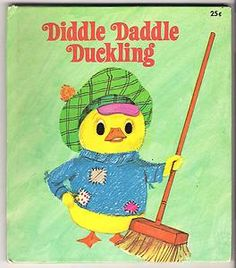 Vintage Childrens Tell A Tale Book DIDDLE DADDLE DUCKLING