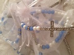 DIY Beaded cross bracelets
