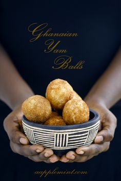 Yam balls from Ghana. I want to try a healthier baked version of this.