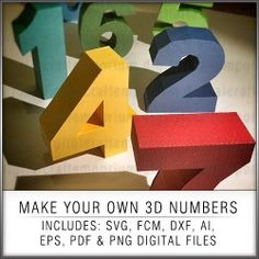 Make stunning three dimensional creations to commemorate that special event with these make your own 3D numbers.