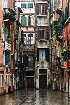 This image of Venice in the rain is one of my personal favorites. The colors are also perfect for spring design!