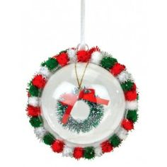 Nicole™ Crafts Christmas Wreath Bubble Ball Ornament