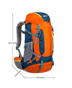 Makino Hiking Backpack with Internal Frame -- Check out this great product. (This is an affiliate link) Hiking Backpack, Travel Backpack, Backpacks, Yellow, Link, Frame, Check, Stuff To Buy, Bags