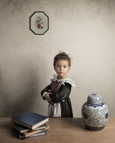 Bill Gekas is an Australian photographer with a particular liking for the artwork of the Old Masters, such as Vemeer and Rembrandt. He wanted to recreate their work through photography, but wasn't sure of the best way to do it... until he got the crazy idea of letting his own five-year-old daughter be the subject.