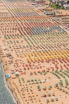 Colorful Aerial Photos of Italian Beach Resorts