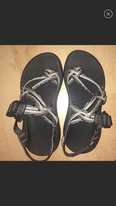 dcc18f178 Chaco womens grey and white designed sandals. Toe strap size 6 new  condition  fashion