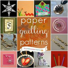 Paper Embroidery Ideas Learn how to quill paper with this collection of 40 paper quilling patterns! Make beautiful paper crafts and paper art with quilling tutorials and ideas. Paper Quilling Flowers, Origami And Quilling, Quilled Paper Art, Quilling Paper Craft, Diy Paper, Paper Crafts, Free Paper, Foam Crafts, Quilling Instructions