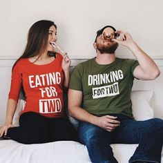 We're expecting Fun SET Eating for two Drinking for #maternity #bump #christmas #pregnant #eatingfortwo #drinkingfortwo