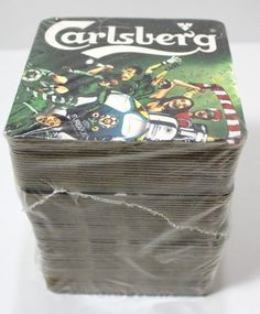 Carlsberg Soccer Beer Coasters Lot Of 74 Open Sleeve Beer Coasters, Soccer, Store, Sleeve, Ebay, Manga, Futbol, Storage, European Football