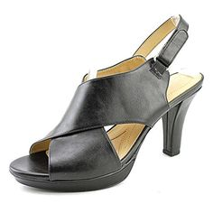 b2c362a94d65 Naturalizer Dish Women US 9 Black Open Toe Slingback Sandal UK 7 EU 39