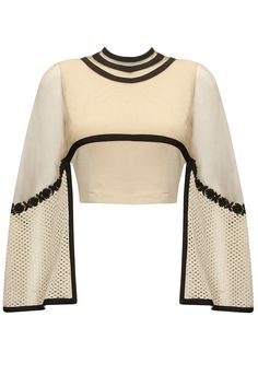 Ridhima Bhasin presents Off-white and black floral embroidered cape top available only at Pernia's Pop-Up Shop. Stage Outfits, Teen Fashion Outfits, Dress Outfits, Cool Outfits, Fashion Dresses, Womens Fashion, Indian Dresses, Indian Outfits, Salwar Kameez