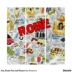 102 Rome Fun and Humor Triptych - fun gifts funny diy customize personal Wall Art Sets, Triptych, Cool Gifts, Rome, Create, Funny, Diy, Humor, Tri Fold Brochure