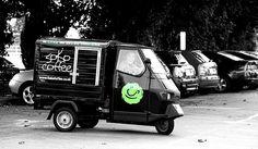 Soko Coffee, UK. Very cute Piaggio espresso truck.