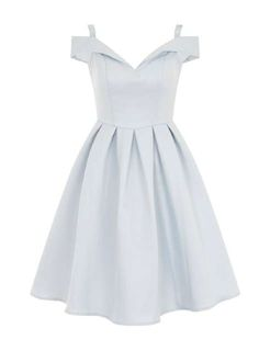 **Chi Chi London Fold Over Bardot Dress