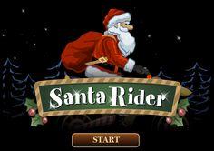 Santa ha dejado tirados algunos regalos de esta navidad y para recuperarlos usara la super moto navideña que los duendes le han creado, no dejes que caiga o se accidente para que pueda entregar todos los regalos a tiempo.